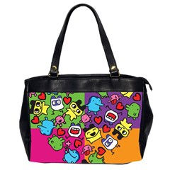 Cartoon Pattern Office Handbags (2 Sides)  by Sapixe