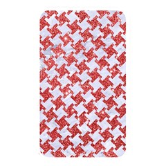 Houndstooth2 White Marble & Red Glitter Memory Card Reader