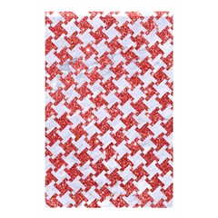 Houndstooth2 White Marble & Red Glitter Shower Curtain 48  X 72  (small)  by trendistuff