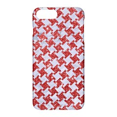Houndstooth2 White Marble & Red Glitter Apple Iphone 8 Plus Hardshell Case by trendistuff