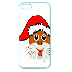 Child Of Artemis Christmas Animal Clipart Apple Seamless Iphone 5 Case (color)