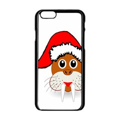 Child Of Artemis Christmas Animal Clipart Apple Iphone 6/6s Black Enamel Case