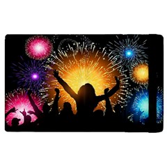 Celebration Night Sky With Fireworks In Various Colors Apple Ipad 3/4 Flip Case by Sapixe