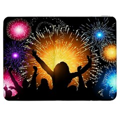 Celebration Night Sky With Fireworks In Various Colors Samsung Galaxy Tab 7  P1000 Flip Case
