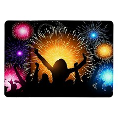 Celebration Night Sky With Fireworks In Various Colors Samsung Galaxy Tab 10 1  P7500 Flip Case