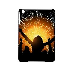 Celebration Night Sky With Fireworks In Various Colors Ipad Mini 2 Hardshell Cases by Sapixe