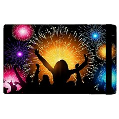 Celebration Night Sky With Fireworks In Various Colors Apple Ipad Pro 9 7   Flip Case by Sapixe