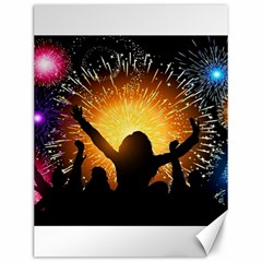Celebration Night Sky With Fireworks In Various Colors Canvas 12  X 16   by Sapixe