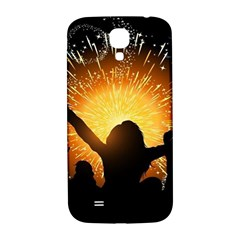 Celebration Night Sky With Fireworks In Various Colors Samsung Galaxy S4 I9500/i9505  Hardshell Back Case