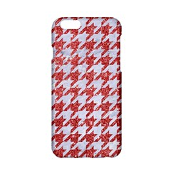 Houndstooth1 White Marble & Red Glitter Apple Iphone 6/6s Hardshell Case by trendistuff