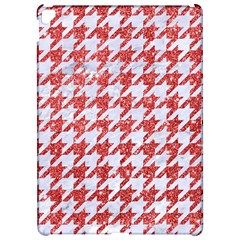 Houndstooth1 White Marble & Red Glitter Apple Ipad Pro 12 9   Hardshell Case by trendistuff