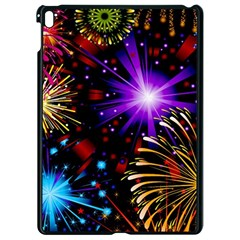 Celebration Fireworks In Red Blue Yellow And Green Color Apple Ipad Pro 9 7   Black Seamless Case