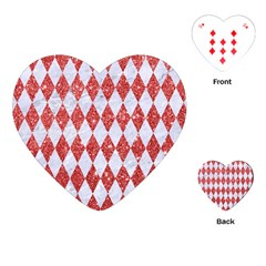 Diamond1 White Marble & Red Glitter Playing Cards (heart)  by trendistuff