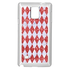 Diamond1 White Marble & Red Glitter Samsung Galaxy Note 4 Case (white) by trendistuff