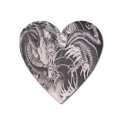 Chinese Dragon Tattoo Heart Magnet by Sapixe