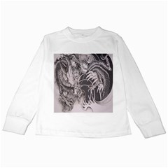 Chinese Dragon Tattoo Kids Long Sleeve T-shirts by Sapixe