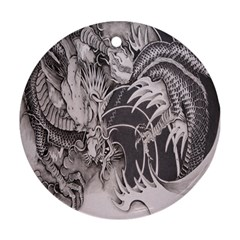 Chinese Dragon Tattoo Round Ornament (two Sides) by Sapixe