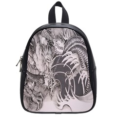 Chinese Dragon Tattoo School Bag (small) by Sapixe