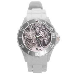 Chinese Dragon Tattoo Round Plastic Sport Watch (l) by Sapixe