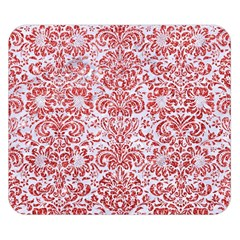 Damask2 White Marble & Red Glitter (r) Double Sided Flano Blanket (small)  by trendistuff