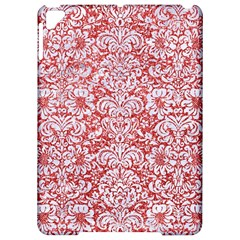 Damask2 White Marble & Red Glitter Apple Ipad Pro 9 7   Hardshell Case by trendistuff