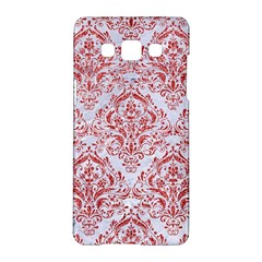 Damask1 White Marble & Red Glitter (r) Samsung Galaxy A5 Hardshell Case  by trendistuff