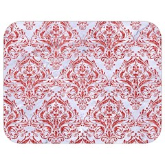 Damask1 White Marble & Red Glitter (r) Full Print Lunch Bag by trendistuff