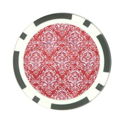 Damask1 White Marble & Red Glitter Poker Chip Card Guard (10 Pack) by trendistuff