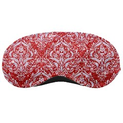 Damask1 White Marble & Red Glitter Sleeping Masks by trendistuff