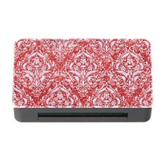 Damask1 White Marble & Red Glitter Memory Card Reader With Cf by trendistuff