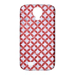 Circles3 White Marble & Red Glitter (r) Samsung Galaxy S4 Classic Hardshell Case (pc+silicone) by trendistuff