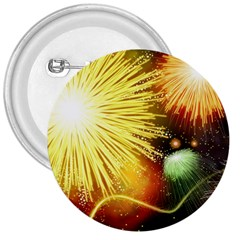 Celebration Colorful Fireworks Beautiful 3  Buttons by Sapixe