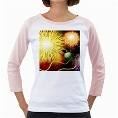 Celebration Colorful Fireworks Beautiful Girly Raglans by Sapixe