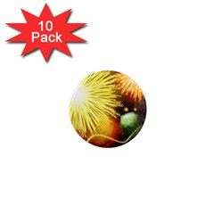 Celebration Colorful Fireworks Beautiful 1  Mini Magnet (10 Pack)  by Sapixe