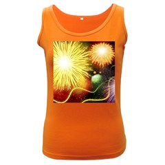 Celebration Colorful Fireworks Beautiful Women s Dark Tank Top by Sapixe