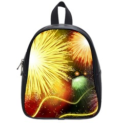 Celebration Colorful Fireworks Beautiful School Bag (small) by Sapixe