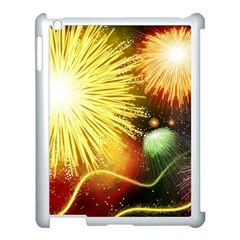 Celebration Colorful Fireworks Beautiful Apple Ipad 3/4 Case (white)