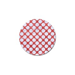 Circles2 White Marble & Red Glitter Golf Ball Marker by trendistuff