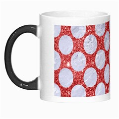 Circles2 White Marble & Red Glitter Morph Mugs by trendistuff