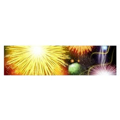 Celebration Colorful Fireworks Beautiful Satin Scarf (oblong) by Sapixe