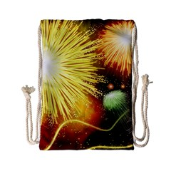 Celebration Colorful Fireworks Beautiful Drawstring Bag (small) by Sapixe
