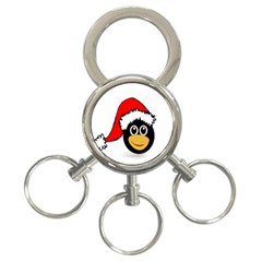 Christmas Animal Clip Art 3 Ring Key Chains by Sapixe