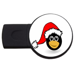 Christmas Animal Clip Art Usb Flash Drive Round (2 Gb) by Sapixe