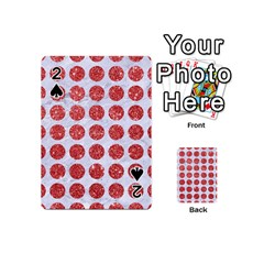 Circles1 White Marble & Red Glitter (r) Playing Cards 54 (mini)  by trendistuff