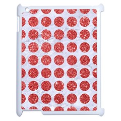 Circles1 White Marble & Red Glitter (r) Apple Ipad 2 Case (white)