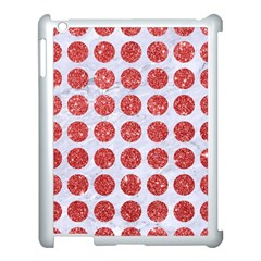 Circles1 White Marble & Red Glitter (r) Apple Ipad 3/4 Case (white) by trendistuff