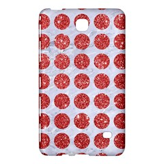 Circles1 White Marble & Red Glitter (r) Samsung Galaxy Tab 4 (8 ) Hardshell Case  by trendistuff