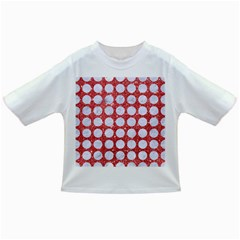 Circles1 White Marble & Red Glitter Infant/toddler T Shirts by trendistuff