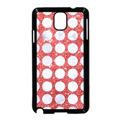 Circles1 White Marble & Red Glitter Samsung Galaxy Note 3 Neo Hardshell Case (black) by trendistuff