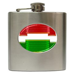 Christmas Banners Clipart Hip Flask (6 Oz)